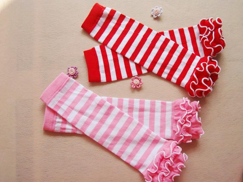 Нью-малышей малыша гетры колготки для маленьких девочек грелки ноги Носки носки Полосатый Dots Чистый хлопок Девочка рождественские подарки Legging A6346