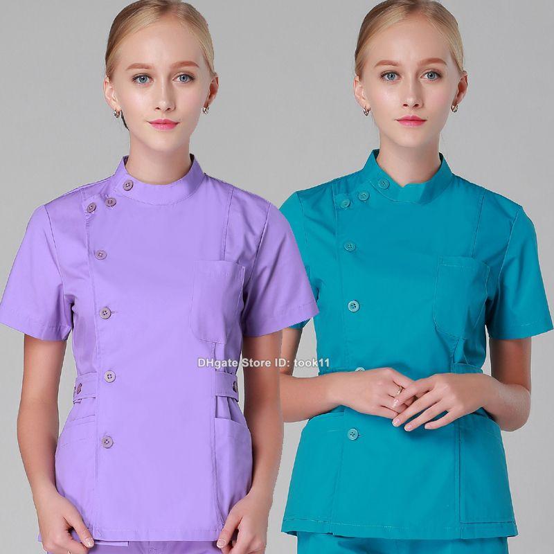 a1db55843ce 2019 Wholesale Women Hospital Scrub Set Oral Doctor Medical Clothing Dental  Spa Clinic Beauty Salon Nurse Uniform Medico Suit Slim Work Wear From  Took11, ...