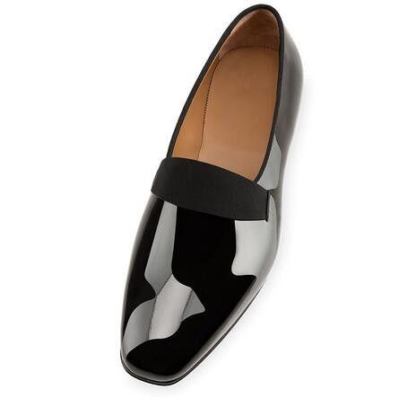 أسود براءات أحذية جلدية الأحمر أسفل العلامة التجارية ساحة تو متعطل أحذية كلاسيك رجال أحذية الزفاف