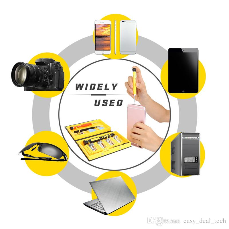 Juego de destornilladores electrónicos 38 en 1 Juego de destornilladores de precisión Juego de herramientas de apertura para iPhone iPad Samsung Cámara Teléfono celular ZJ0133