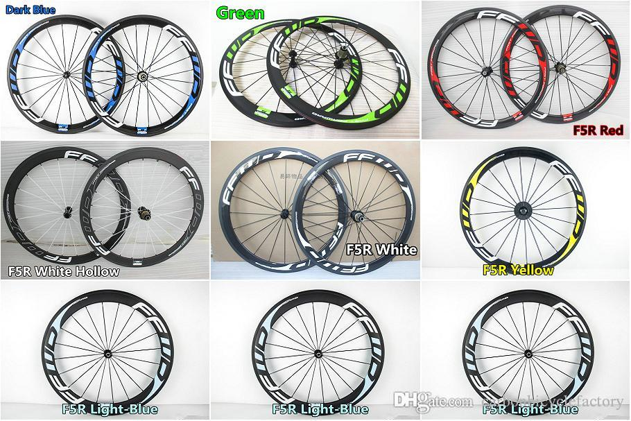 7 models 3K/UD FFWD F5R 50mm carbon road wheels With 23mm width Novatec 271 hub road bike carbon wheels Free shipping