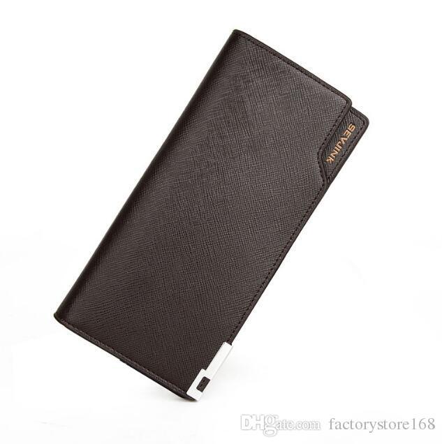 Moda lungo portafogli borsellini portafogli grande mens portafogli in pelle tri fold portafoglio uomo all'ingrosso e al dettaglio