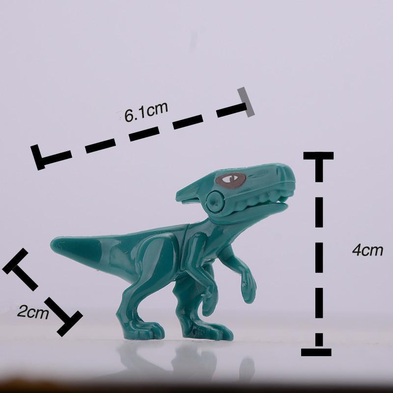 6cm Mini Dinosauri di Jurassic World Figure Kid Toy Building Blocks Imposta modello Giocattoli Omini Brick