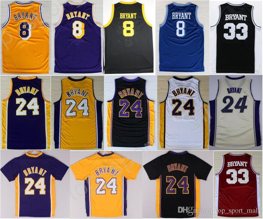 e504eb887 Hot Sale 8 Kobe Bryant Jersey 24 Men Throwback High School Lower Merion 33 Kobe  Bryant ...