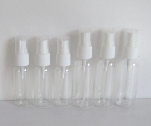 Pompa Sprey ile yüksek dereceli 30ml Şeffaf Plastik Sprey Şişe Doldurulabilir Şişe Parfüm PET Şişe