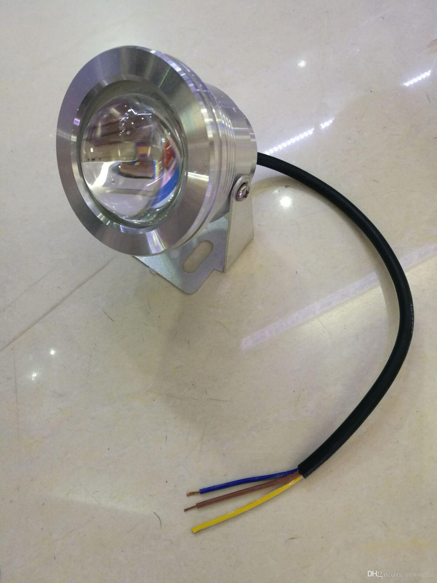 10W 12V RGB Underwater Led Light Floodlight CE/RoHS IP68 950lm Changing with Remote for Fountain Pool Decoration