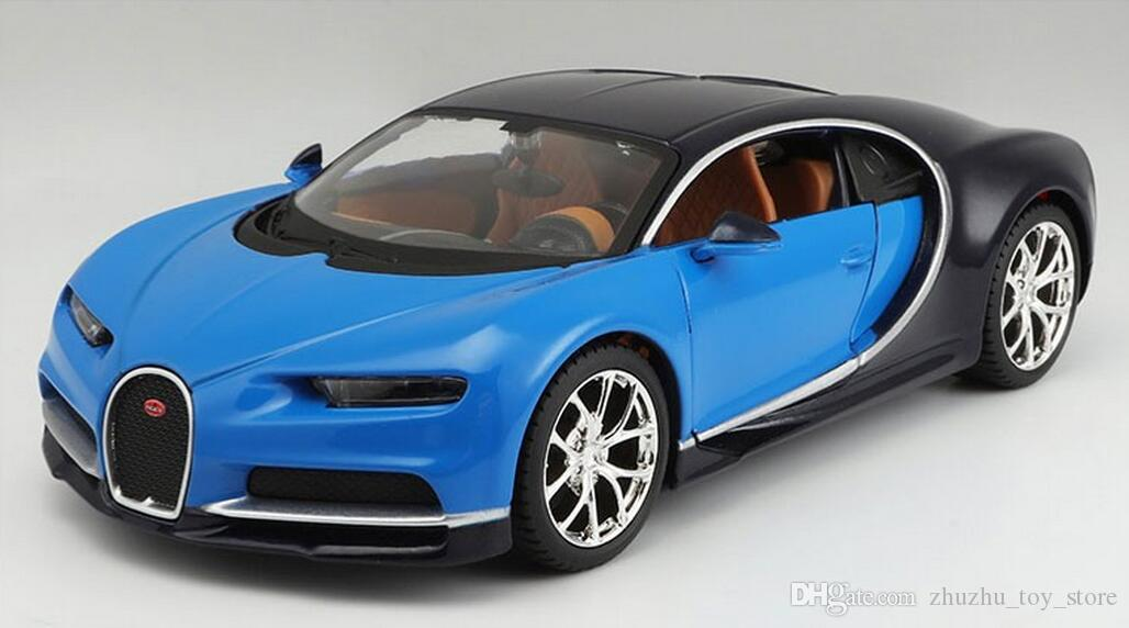 2018 maisto bugatti chiron 1:24 scale diecast car model toys alloy