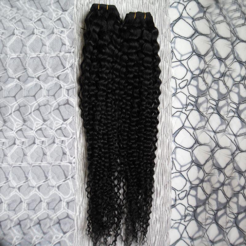 Человеческие волосы ткать пучки черные девственные бразильские волосы ткать расслоение 200 г бразильский вьющиеся девственные волосы ткать пучки 2 шт.