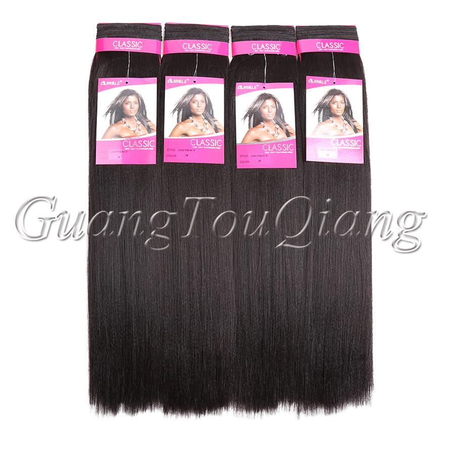 Straight hair perm products - Noble High Quality Classic Perm Yaki 18inch Long Straight Yaki Hair Weft Of Synthetic Weaving Hair