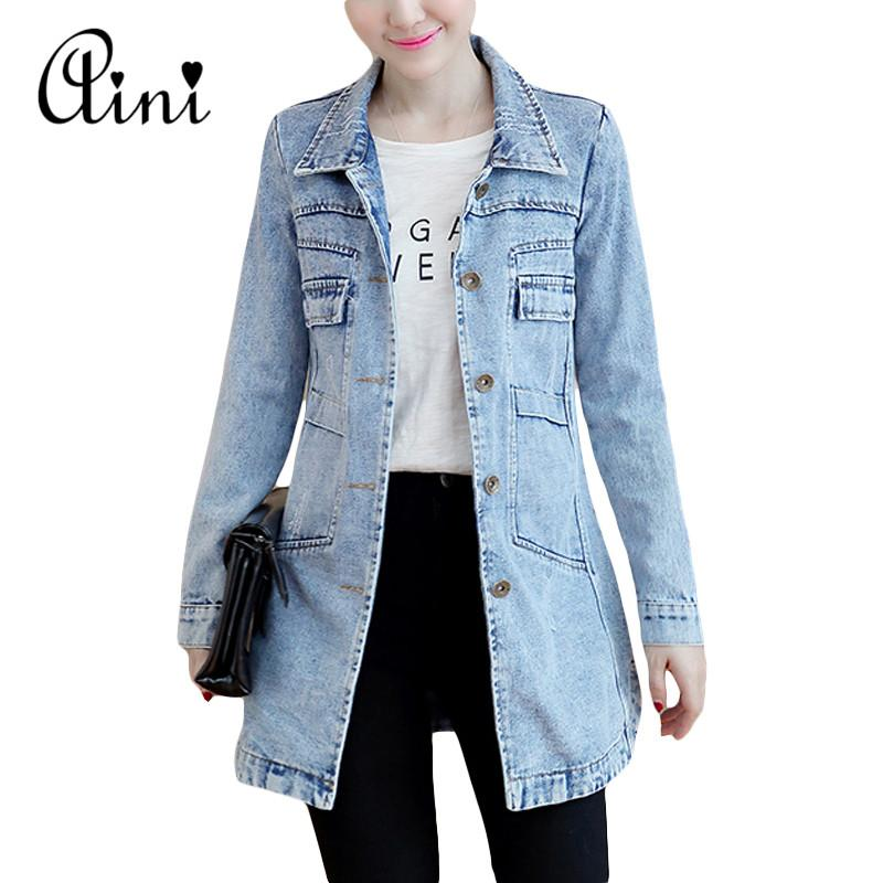 Wholesale 2017 Denim Jackets Women Hole Boyfriend Style Long Sleeve Vintage Jean  Jacket Denim Loose Spring Autumn Denim Coat Jeans S 3XL Waterproof Jacket  ... b3677161d2