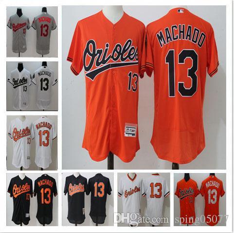 4c8cbf9d031 ... 2017 Newest Baltimore Orioles 13 Manny Machado Home Away Baseball Jersey  White Cream Orange Black Throwback ...