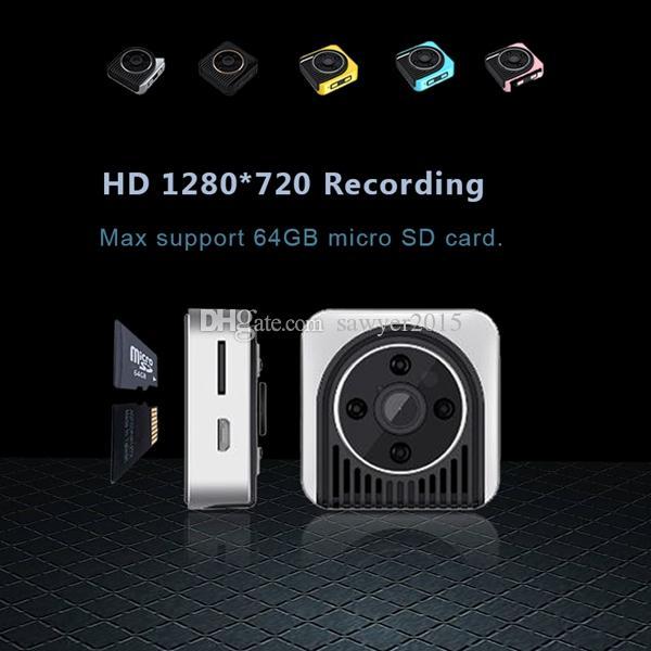 la visión nocturna de HD soporte de la cámara mini DV H5 WIFI usable IP 150 grados lente gran angular Cuerpo de la cámara al aire libre mini cámara de los deportes