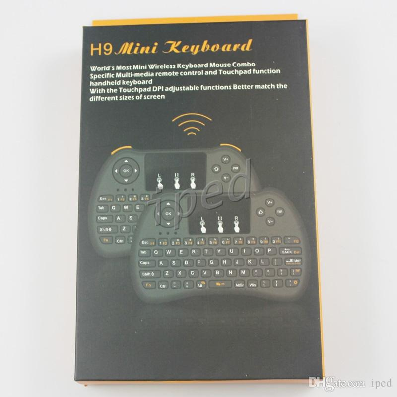 2.4GHz Wireless H9 H9+ Plus Fly Air Mouse Mini QWERTY Keyboard with Touch Pad Android TV Box Remote Control Gamepad Controller Cheap