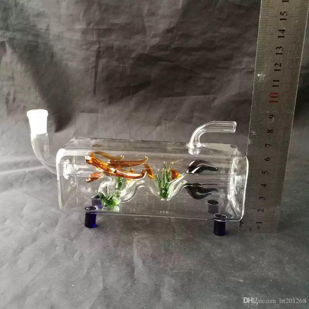 크로스 튜브 코티지 담뱃대, 도매 유리 기억 만, 석유 버너 유리 물 파이프, 파이프 부속품 연기