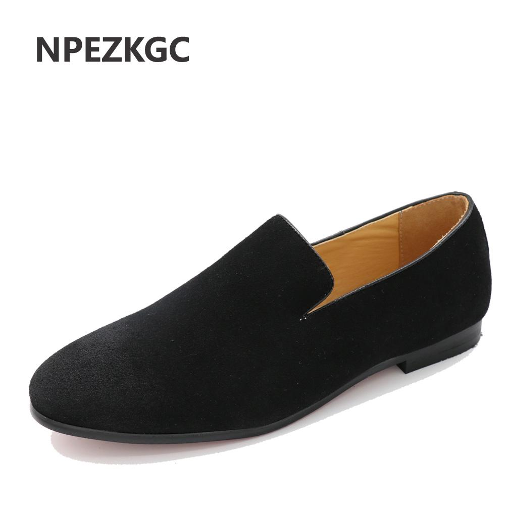 Men's British Style Slip-On Loafers Casual Driving Shoes