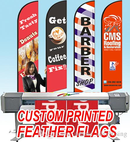 Free ship Graphic custom printing for F type feather banner graphic  replacement both single/double sided available