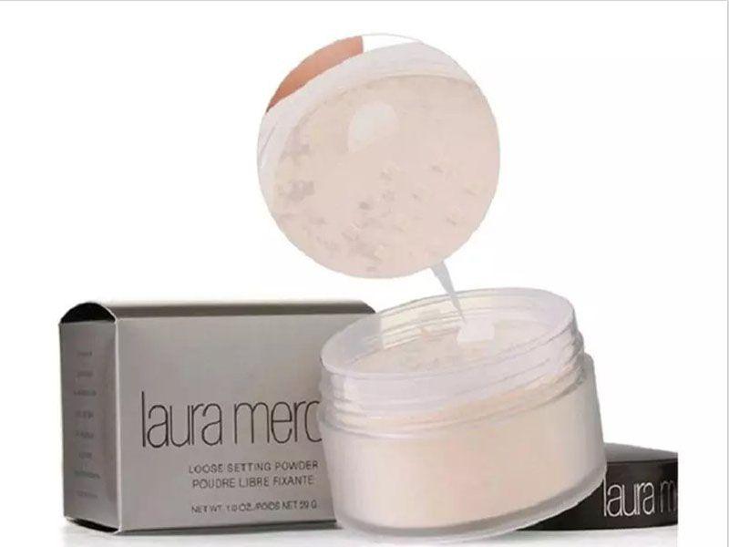 En stock Expédition en 24 heures !! Fond de teint en vrac, à base de poudre, de maquillage, Fondation Laura Mercier Poudre pour éclaircir le correcteur