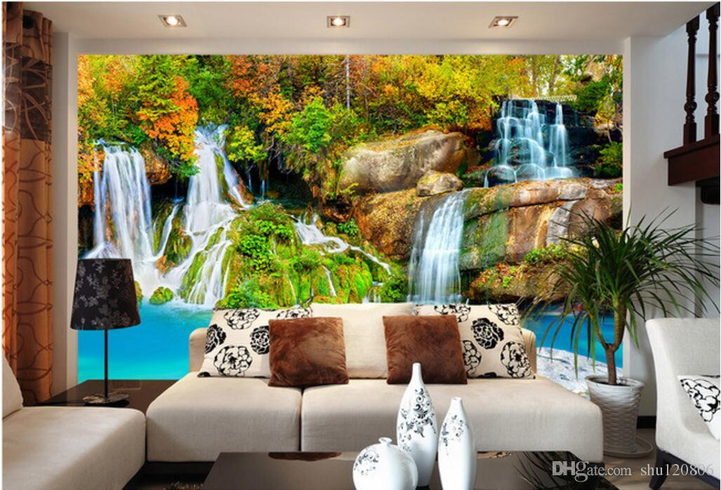 3d room wallpaer custom mural photo Mountain stream landscape scenery picture decoration painting 3d wall murals wallpaper for walls 3 d