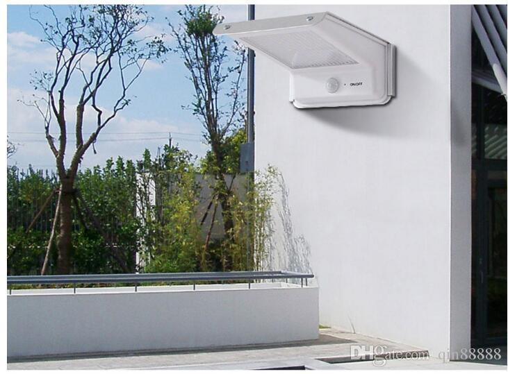 20 LED 태양 램프 모션 센서 야외 방수 바디 유도 사운드 컨트롤 배터리 전원 정원 벽 빛 코트 야드 홈
