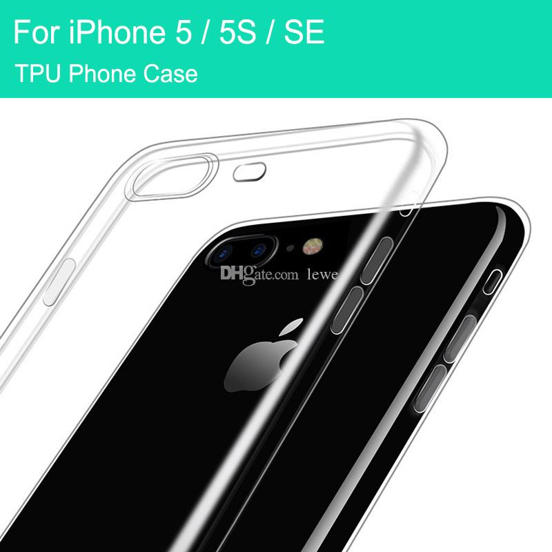 Wholesale tpu case ultra thin 0.6mm mobile case soft cover cell phone case for iphone 5 5S