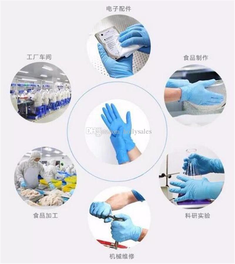 Einweg schwarz weiß klar Nitril-Latex-Handschuhe PVC klar Pulver Latex-frei Handschuh für die Prüfung Mechaniker Schönheit Multi-Zweck