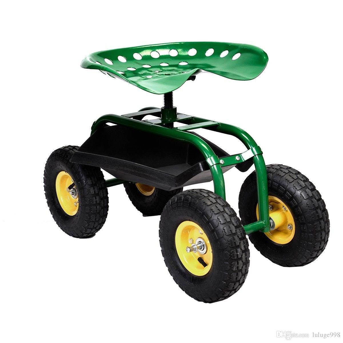 2018 Rolling Garden Cart Work Seat With Heavy Duty Tool Tray Gardening  Planting Green From Luluge998, $41.21 | Dhgate.Com