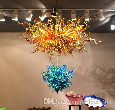 2017 Beautiful Chihuly Style Hanging Chandelier Blown Top Quality