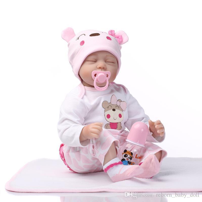 Comercio exterior la simulación única original renace la muñeca suave con sociedad de crecimiento casa durmiendo juguetes para bebés