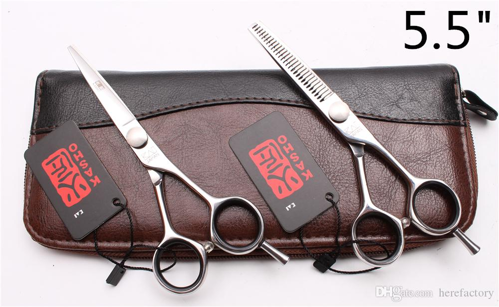 "H1021 5"" 5.5"" 6"" Japan Laser Kasho Professional Human Hair Scissors Barbers' Hairdressing Scissors Cutting Thinning Shears Style Tools"
