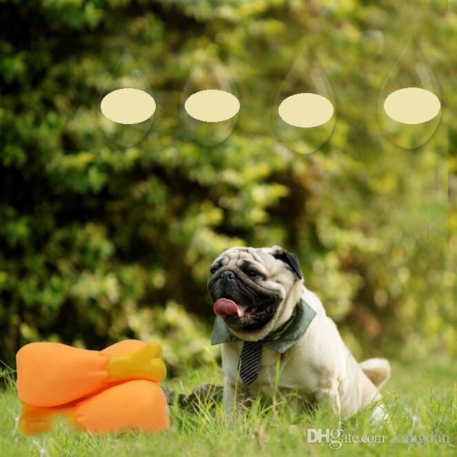 Engraçado brinquedo de borracha do animal de estimação pernas De Frango squeaky cão brinquedo filhote de cachorro som shrilling pernas de frango interativo cães gato mastigar brinquedo dentes de limpeza baqueta