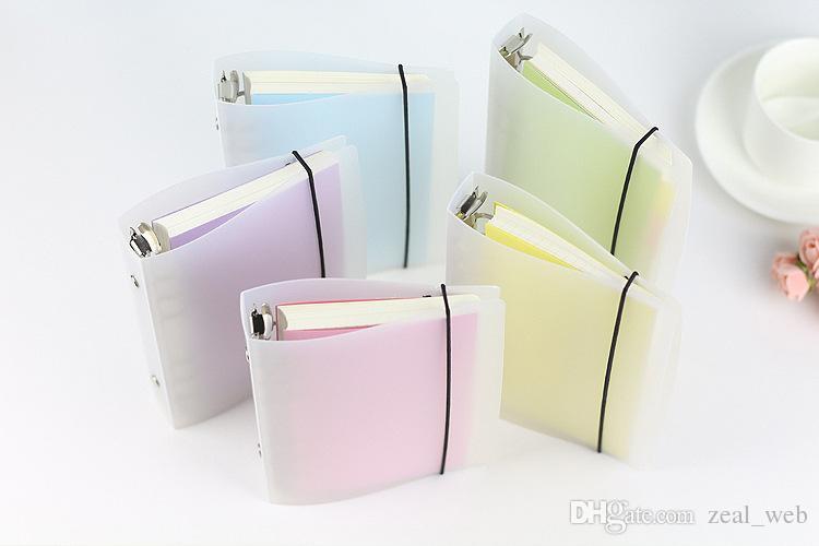 معيار 6 حفرة دفتر ملحق ورقة قذيفة غطاء شفاف بلوري موجزة 6 ثقوب الموثق مخطط ل a5 / a6 / a7 ورقة 7