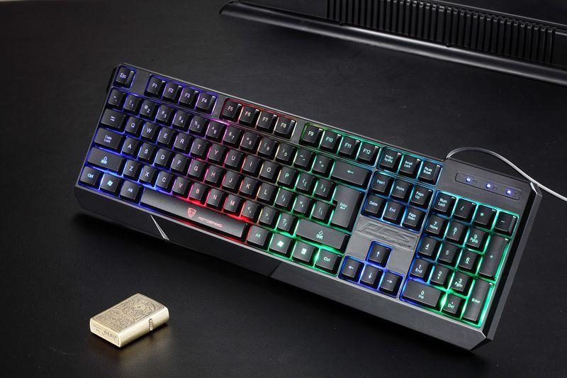 High Quality MotoSpeed K70 Ergonomic 7 LED Colorful Backlight USB Wired Gamer Gaming Keyboard USB Powered for Desktop Laptop Teclado Gamer