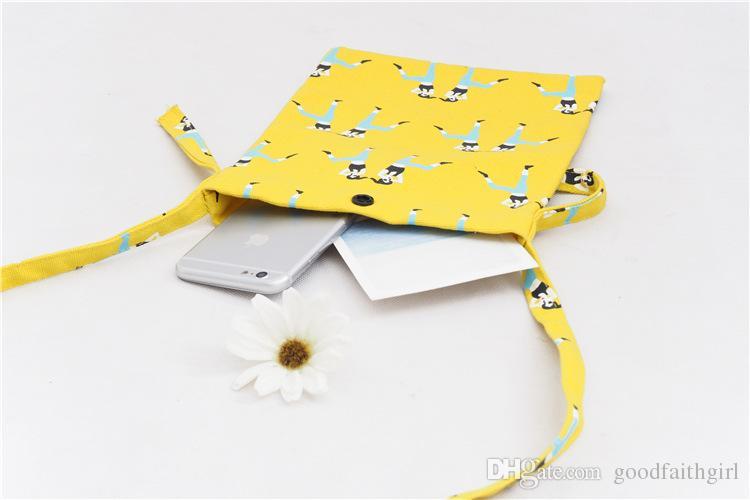 12OZ canvas Mini travel case Cross-body Neck Strap Lanyard Mobile Phone Shoulder Bag Pouch cell phone Case Handbag Purse Coin Wallet