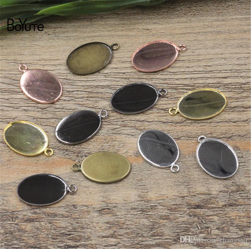 532196be6 BoYuTe Fit 13*18MM Oval Cabochon Base Setting Plated Diy Pendant ...