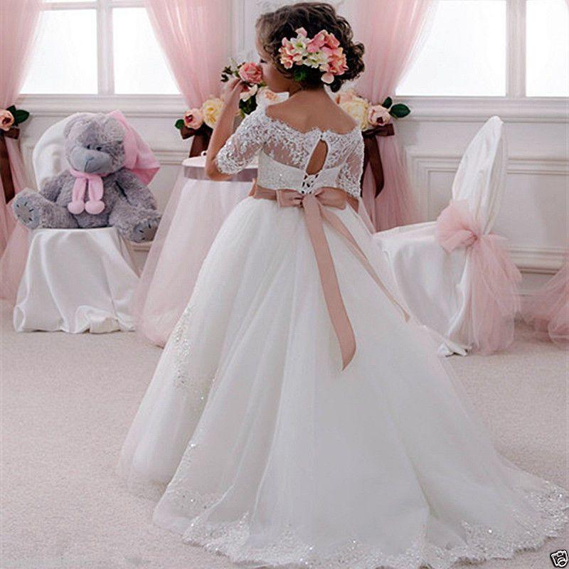 Festa de aniversário da páscoa do dia das bruxas menina comunhão partido baile de finalistas princesa da dama de honra do aniversário do casamento flor menina vestido