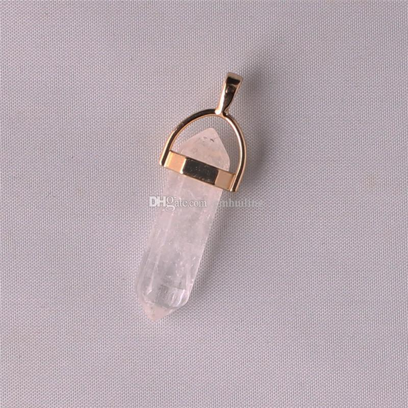 Dainty Gold Filled Bail Crystal Pastel Quartz Pendant Minimal Hexagon Carnelian Grey Purple Agate Black Onyx Amethyst Boho Romantic Necklace