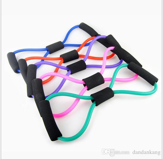 8-förmigen Brust Entwickler-Widerstand-Bänder Loop-Fitness Crossfit Power Lifting Pull Up stärken Muskeln Fitness-Ausrüstungen