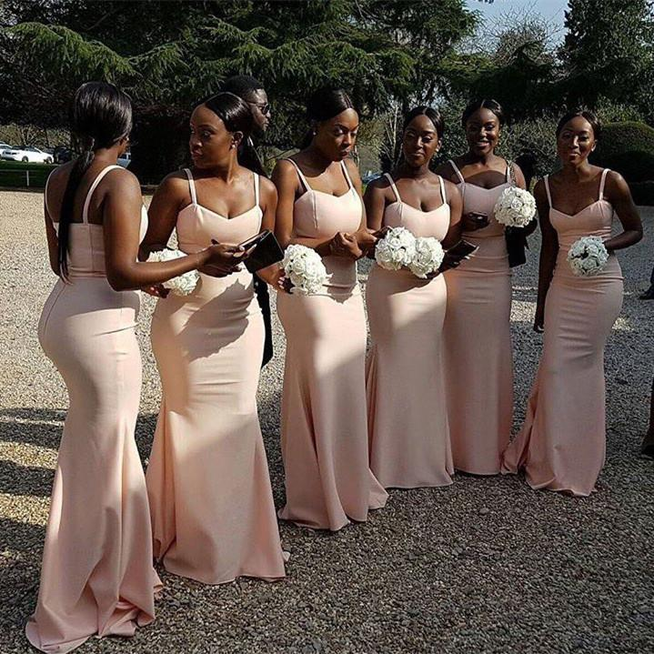 Champagne African Bridesmaid Dresses 2018 Mermaid Wedding Guest ...