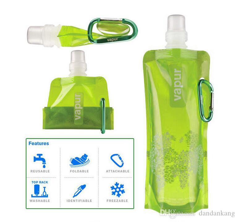 Foldable Water Bottle >> Outdoor Cycling Sport Collapsible Water Bottle Portable Hydration