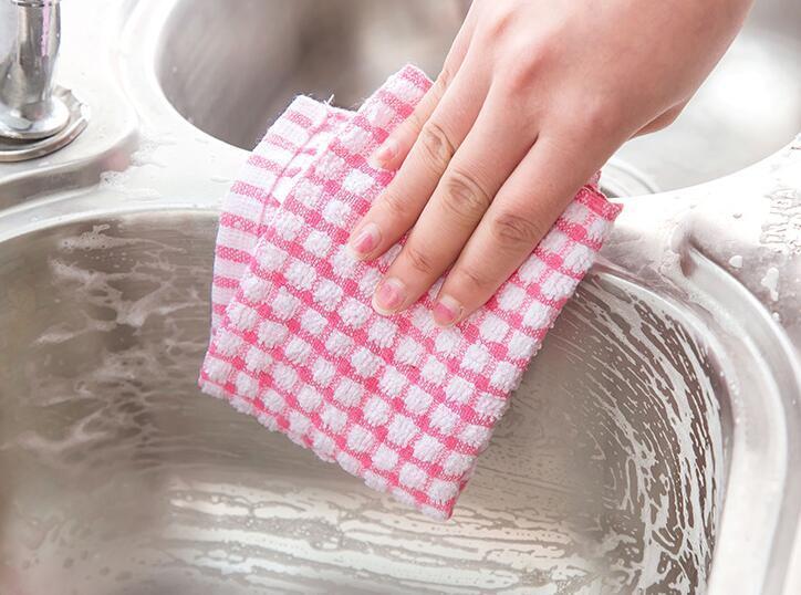 새로운 주방 접시 수건 부드러운 극세사 양면 흡수 비 스틱 오일 세척 그릇 수건 주방 청소 천 28 * 40 센치 메터 WX9-22