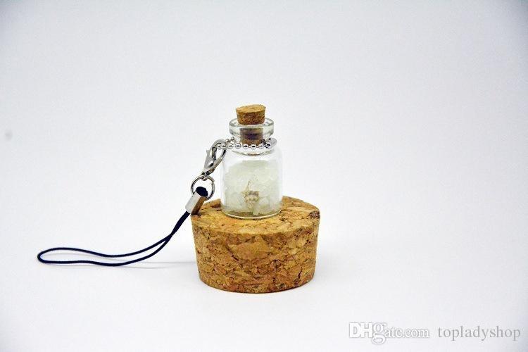 Creative diy small ornaments Japan set Okinawa love night light sand phone chain luminous wishing bottle pendant wholesale