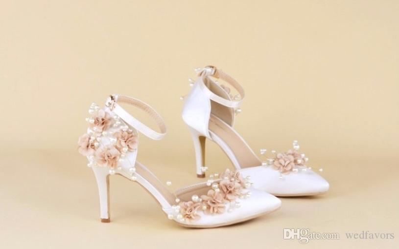 Custom Exclusive Date Literal White Stiletto Heels Wedding Shoes Sandals Lace Pearl Party Bridal Ireland