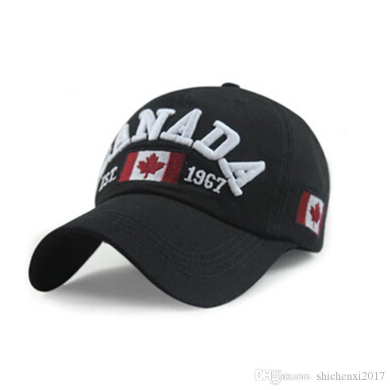 Compre CANADA Gorra De Béisbol Sombrero Carta Ajustable Pareja Hombres  Bordados Mujeres Unisex Sun Snapback Golf Hat Enarbolada Cap A  6.62 Del ... 4b379e3162f
