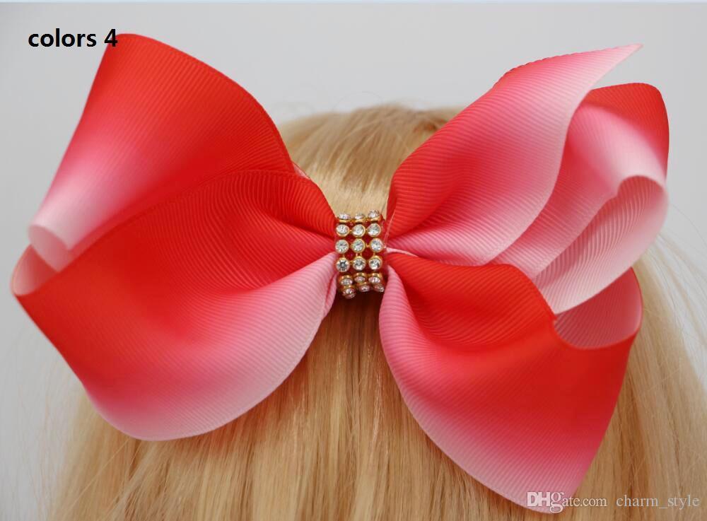 2 estilo disponível! 6 polegadas JoJo Grande ombre Boomerang arco de cabelo Arco de Cabelo strass para o bebê Meninas da criança acessórios de Cabelo /