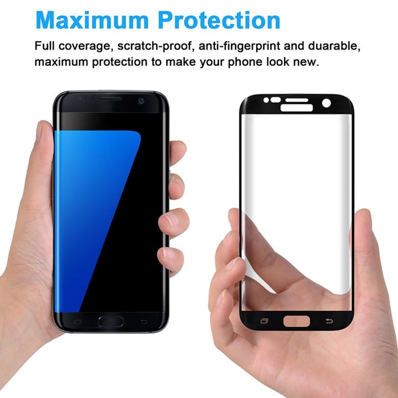 for Samsung S7 Edge Screen 3D Protector Tempered Glass Full Coverage Curved Side Explosion Proof for samsung S6 S7 With Luxury ratail Box