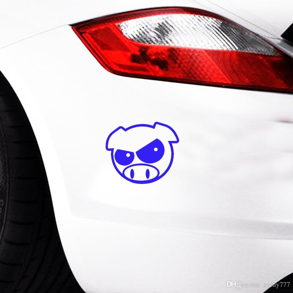 2017 Hot Sale Car Stying Two Rally Pigs Car Vinyl Sticker Window Decal Car Decorative Jdm