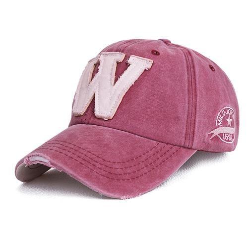 b2b1af034cf07 Cotton Embroidery Letter W Baseball Cap For Men Women Snapback Cap ...