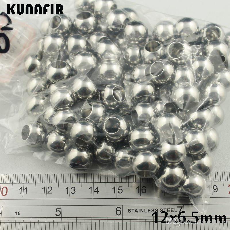 6.5mmの穴の滑らかな316Lのステンレス鋼のビーズブレスレットのネックレスのアクセサリージュエリーDIYの部品100ピースZSP031