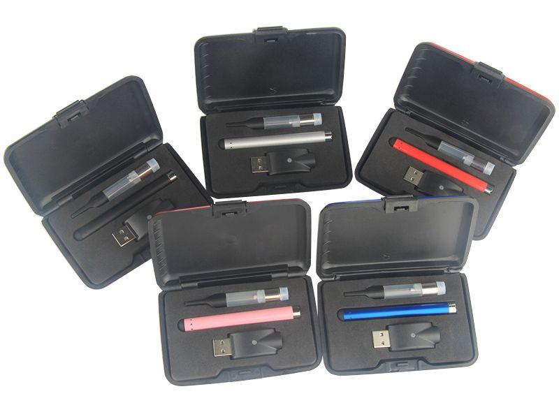 CE3 vape pen bud touch battey 510 ego charger oil atomizer vaporizer pen cartridge e-cig plastic gift box starter kit