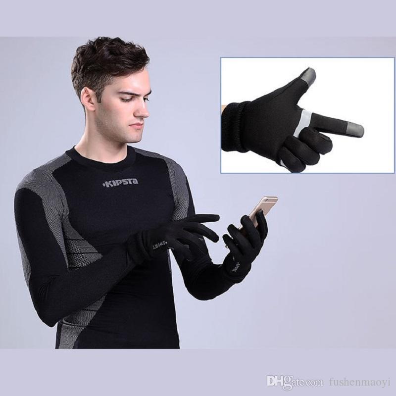 Winter-warme Eignungs-Handschuh-Männer und Frauen, die Gleitschutz-Schirm-Touch-Telefon-Texting-Handschuhe im Freien reiten laufen lassen winddicht